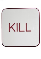 2X2 INCH KILL WHITE/RED