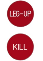 1.75 INCH LEG-UP/KILL RED/WHITE