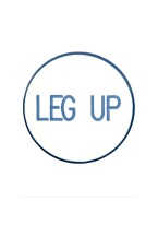 1.25 INCH LEG UP WHITE/BLUE
