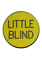 2 INCH LITTLE BLIND YELLOW/BLACK