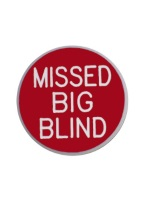 1.25 INCH MISSED BIG BLIND RED/WHITE