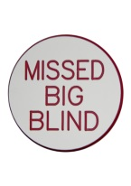 2 INCH MISSED BIG BLIND WHITE/RED