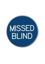 1.25 INCH MISSED BLIND BLUE/WHITE