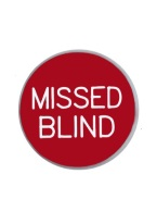 1.25 INCH MISSED BLIND RED/WHITE