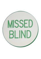 2 INCH MISSED BLIND WHITE/GREEN