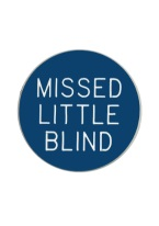 1.25 INCH MISSED LITTLE BLIND BLUE/WHITE