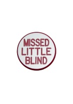 0.75 INCH MISSED LITTLE BLIND WHITE/RED