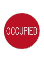 1.75 INCH OCCUPIED RED/WHITE