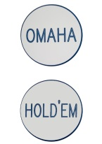 2 INCH OMAHA/HOLDEM WHITE/BLUE
