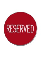 1.75 INCH RESERVED RED/WHITE