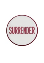 1.25 INCH SURRENDER WHITE/RED