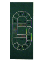 BACCARAT, 9 PLAYER LAYOUT