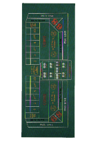 10' SUBLIMATION CRAPS STOCK LAYOUT