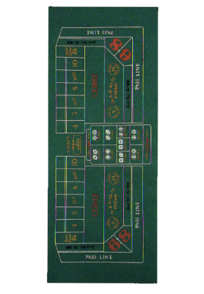 12' SUBLIMATION CRAPS STOCK LAYOUT