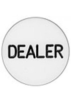 "DEALER BUTTON 2"" LUCITE"