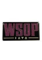 WSOP PINK GILTER MAGNET WSOP, world series of poker, poker, magnet, las vegas themed, poker history, texas holdem