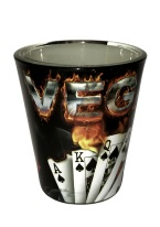 BURNING CARDS SHOT GLASS