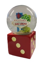 DICE SNOWGLOBE Las Vegas, Souvenirs, Vegas Themed.