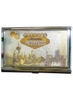LV STRIP GOLD CARD HOLDER business card, holder, card holder, gold, lv, strip