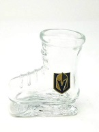 LAS VEGAS GOLDEN KNIGHTS COLLECTORS SKATE GLASS, 2 OZ SHOT GLASS