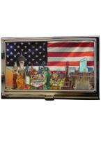 LV STRIP USA FLAG CARD HOLDER business card, holder, card holder, lv, strip