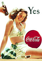 COKE - YES - WHITE BATHING SUIT Dogs Playing Poker, Batman, Bettie Page, Marilyn Monroe, Elvis, Indian Motorcycles, Three Stooges, Marvel, Superman, Spiderman, Iron Man, Captain America, Phillips 66, Farmall, Don?t Tread on Me, Ducks Unlimited, Louisville Slugger, Dukes of Hazard, Flintstone?s. Cowboy by Choice, Cowgirl by Choice, I Love Lucy, Moon Pie, Winchester Rifles, Colt 45, Budweiser, Vince Lombardi, Fender Stratocaster, Ford, Chevy, Mustang, Remington, Jack Daniels, Smith & Wesson, Wizard of Oz, Schonberg, Coke, Coca Cola, Budweiser, Jim Beam, Route 66, Corvette, Ford, I Love Lucy
