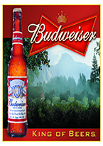 BUDWEISER - KING OF BEERS Dogs Playing Poker, Batman, Bettie Page, Marilyn Monroe, Elvis, Indian Motorcycles, Three Stooges, Marvel, Superman, Spiderman, Iron Man, Captain America, Phillips 66, Farmall, Don?t Tread on Me, Ducks Unlimited, Louisville Slugger, Dukes of Hazard, Flintstone?s. Cowboy by Choice, Cowgirl by Choice, I Love Lucy, Moon Pie, Winchester Rifles, Colt 45, Budweiser, Vince Lombardi, Fender Stratocaster, Ford, Chevy, Mustang, Remington, Jack Daniels, Smith & Wesson, Wizard of Oz, Schonberg, Coke, Coca Cola, Budweiser, Jim Beam, Route 66, Corvette, Ford, I Love Lucy