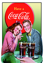 COKE - YOUNG COUPLE Dogs Playing Poker, Batman, Bettie Page, Marilyn Monroe, Elvis, Indian Motorcycles, Three Stooges, Marvel, Superman, Spiderman, Iron Man, Captain America, Phillips 66, Farmall, Don?t Tread on Me, Ducks Unlimited, Louisville Slugger, Dukes of Hazard, Flintstone?s. Cowboy by Choice, Cowgirl by Choice, I Love Lucy, Moon Pie, Winchester Rifles, Colt 45, Budweiser, Vince Lombardi, Fender Stratocaster, Ford, Chevy, Mustang, Remington, Jack Daniels, Smith & Wesson, Wizard of Oz, Schonberg, Coke, Coca Cola, Budweiser, Jim Beam, Route 66, Corvette, Ford, I Love Lucy
