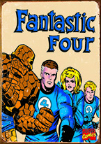 FANTASTIC FOUR RETRO Dogs Playing Poker, Batman, Bettie Page, Marilyn Monroe, Elvis, Indian Motorcycles, Three Stooges, Marvel, Superman, Spiderman, Iron Man, Captain America, Phillips 66, Farmall, Don?t Tread on Me, Ducks Unlimited, Louisville Slugger, Dukes of Hazard, Flintstone?s. Cowboy by Choice, Cowgirl by Choice, I Love Lucy, Moon Pie, Winchester Rifles, Colt 45, Budweiser, Vince Lombardi, Fender Stratocaster, Ford, Chevy, Mustang, Remington, Jack Daniels, Smith & Wesson, Wizard of Oz, Schonberg, Coke, Coca Cola, Budweiser, Jim Beam, Route 66, Corvette, Ford, I Love Lucy