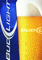 BUD LIGHT - FROSTY GLASS Dogs Playing Poker, Batman, Bettie Page, Marilyn Monroe, Elvis, Indian Motorcycles, Three Stooges, Marvel, Superman, Spiderman, Iron Man, Captain America, Phillips 66, Farmall, Don?t Tread on Me, Ducks Unlimited, Louisville Slugger, Dukes of Hazard, Flintstone?s. Cowboy by Choice, Cowgirl by Choice, I Love Lucy, Moon Pie, Winchester Rifles, Colt 45, Budweiser, Vince Lombardi, Fender Stratocaster, Ford, Chevy, Mustang, Remington, Jack Daniels, Smith & Wesson, Wizard of Oz, Schonberg, Coke, Coca Cola, Budweiser, Jim Beam, Route 66, Corvette, Ford, I Love Lucy