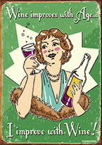 SCHONBERG - WINE IMPROVED Dogs Playing Poker, Batman, Bettie Page, Marilyn Monroe, Elvis, Indian Motorcycles, Three Stooges, Marvel, Superman, Spiderman, Iron Man, Captain America, Phillips 66, Farmall, Don?t Tread on Me, Ducks Unlimited, Louisville Slugger, Dukes of Hazard, Flintstone?s. Cowboy by Choice, Cowgirl by Choice, I Love Lucy, Moon Pie, Winchester Rifles, Colt 45, Budweiser, Vince Lombardi, Fender Stratocaster, Ford, Chevy, Mustang, Remington, Jack Daniels, Smith & Wesson, Wizard of Oz, Schonberg, Coke, Coca Cola, Budweiser, Jim Beam, Route 66, Corvette, Ford, I Love Lucy