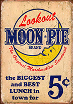 MOON PIE - BEST LUNCH Dogs Playing Poker, Batman, Bettie Page, Marilyn Monroe, Elvis, Indian Motorcycles, Three Stooges, Marvel, Superman, Spiderman, Iron Man, Captain America, Phillips 66, Farmall, Don?t Tread on Me, Ducks Unlimited, Louisville Slugger, Dukes of Hazard, Flintstone?s. Cowboy by Choice, Cowgirl by Choice, I Love Lucy, Moon Pie, Winchester Rifles, Colt 45, Budweiser, Vince Lombardi, Fender Stratocaster, Ford, Chevy, Mustang, Remington, Jack Daniels, Smith & Wesson, Wizard of Oz, Schonberg, Coke, Coca Cola, Budweiser, Jim Beam, Route 66, Corvette, Ford, I Love Lucy