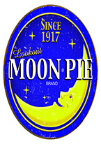 MOON PIE - ROUND SIGN Dogs Playing Poker, Batman, Bettie Page, Marilyn Monroe, Elvis, Indian Motorcycles, Three Stooges, Marvel, Superman, Spiderman, Iron Man, Captain America, Phillips 66, Farmall, Don?t Tread on Me, Ducks Unlimited, Louisville Slugger, Dukes of Hazard, Flintstone?s. Cowboy by Choice, Cowgirl by Choice, I Love Lucy, Moon Pie, Winchester Rifles, Colt 45, Budweiser, Vince Lombardi, Fender Stratocaster, Ford, Chevy, Mustang, Remington, Jack Daniels, Smith & Wesson, Wizard of Oz, Schonberg, Coke, Coca Cola, Budweiser, Jim Beam, Route 66, Corvette, Ford, I Love Lucy