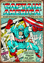 CAPTAIN AMERICA COMIC COVER Dogs Playing Poker, Batman, Bettie Page, Marilyn Monroe, Elvis, Indian Motorcycles, Three Stooges, Marvel, Superman, Spiderman, Iron Man, Captain America, Phillips 66, Farmall, Don?t Tread on Me, Ducks Unlimited, Louisville Slugger, Dukes of Hazard, Flintstone?s. Cowboy by Choice, Cowgirl by Choice, I Love Lucy, Moon Pie, Winchester Rifles, Colt 45, Budweiser, Vince Lombardi, Fender Stratocaster, Ford, Chevy, Mustang, Remington, Jack Daniels, Smith & Wesson, Wizard of Oz, Schonberg, Coke, Coca Cola, Budweiser, Jim Beam, Route 66, Corvette, Ford, I Love Lucy