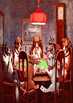 7 DOGS PLAYING POKER Dogs Playing Poker, Batman, Bettie Page, Marilyn Monroe, Elvis, Indian Motorcycles, Three Stooges, Marvel, Superman, Spiderman, Iron Man, Captain America, Phillips 66, Farmall, Don?t Tread on Me, Ducks Unlimited, Louisville Slugger, Dukes of Hazard, Flintstone?s. Cowboy by Choice, Cowgirl by Choice, I Love Lucy, Moon Pie, Winchester Rifles, Colt 45, Budweiser, Vince Lombardi, Fender Stratocaster, Ford, Chevy, Mustang, Remington, Jack Daniels, Smith & Wesson, Wizard of Oz, Schonberg, Coke, Coca Cola, Budweiser, Jim Beam, Route 66, Corvette, Ford, I Love Lucy